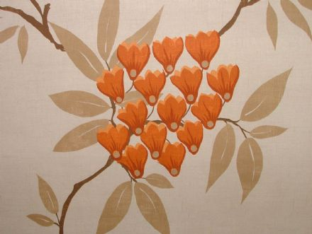 Exc Ashley Wilde MLISS Saffron FLORAL Curtain/Upholstery/Soft Furnishing Fabric